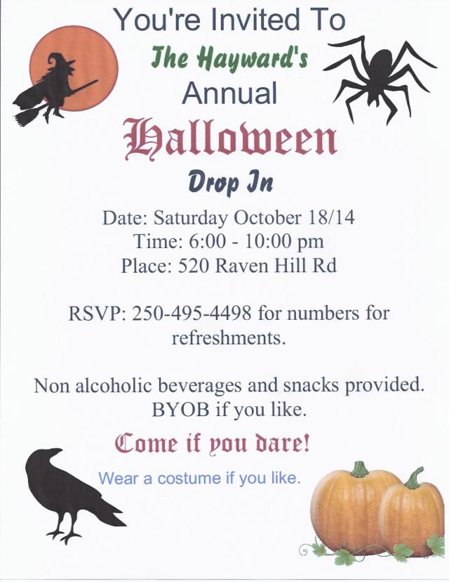 Halloween invite 2014