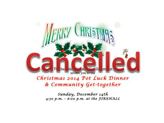 Cancelled AMFD PotLuck 2014