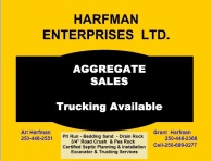 Harfman Enterprises Ltd. Aggregate Sales