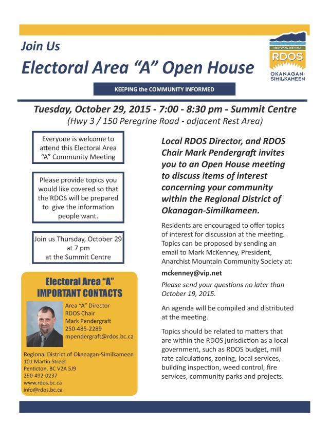 Electoral Area A Open House