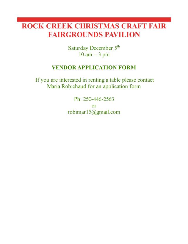 Call to Vendors 2015