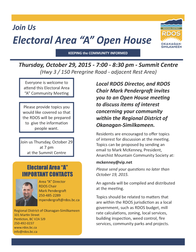 Electoral Area A Open House